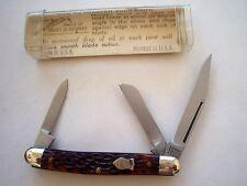 ORIGINAL SCHRADE WALDEN NY USA  808 JUNIOR STOCKMAN  KNIFE