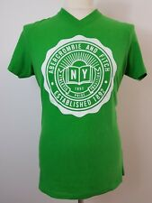 Mens Green Short Sleeved V Neck T Shirt by Abercrombie & Fit Size Extra Large XL