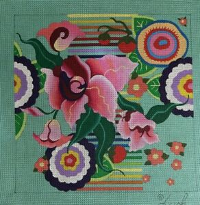 Leigh Designs, Guadalajara Zapopan, hand painted needlepoint canvas