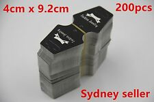 200p Black Display Cards Folding 4x9.2cm Necklace Bracelet Pendant Hanger In SYD