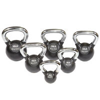 5-30 lb. Chrome Handle Rubber Kettlebell Set, 6 Kettlebells, Body-Solid