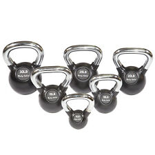 5-30 lb. Chrome Handle Rubber Kettlebell Set, 6 Kettlebells, Body-Solid