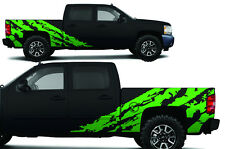 Custom Vinyl Decal Shred Wrap Kit Chevy Silverado Truck 1500/2500 2008-13 GREEN