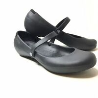 Crocs Shoes Size 10 Mary Jane Flats Womens Black Slip On