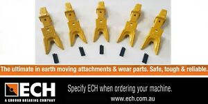 ECH 3-6THD Heavy Duty Tiger Teeth & Adapter for 3-6 ton excavator Pack of 5