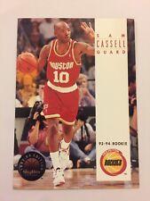 1993-94 Skybox Into NBA Basketball Card Houston Rockets #228 Sam Castello