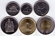 CANADA 2020 COIN SET 5¢ 10¢ 25¢ 50¢ $1 $2 Unc, From First Strike & 50¢ roll NICE