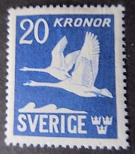 Sweden 1941 Mute Swans. Perforated 4 Sides.Shiny Gum.M/M
