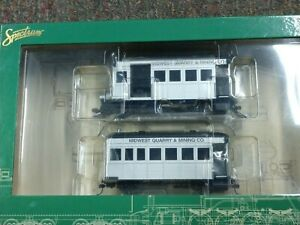 BACHMANN 28461 - Rail Bus & Trailer w/Full Interior Midwest Quarry MINT IN BOX