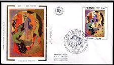 FRANCE FDC - 2137 1 TABLEAU ALBERT GLEIZES 1981 sur soie