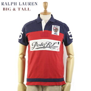 Polo Ralph Lauren Big & Tall Short Sleeve Polo Shirt with Emblem, Polo RL patch
