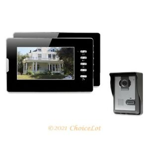 """7"""" Wired Video Door Entry Security Intercom with Intra-monitor Audio Intercom"""