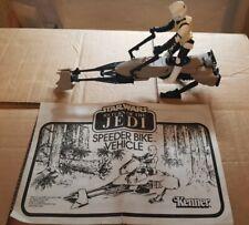 Star Wars Vintage ROTJ Speeder Bike Vehicle and Scout Trooper