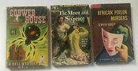 Lot 3  PULP FICTION LURID Pocket Paperback Multiple VINTAGE TRASHY Pulp Books