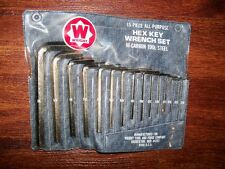 Wright 15 pcs Hex Key Allen Wrench Set Hi Carbon Steel **NEW in original Package