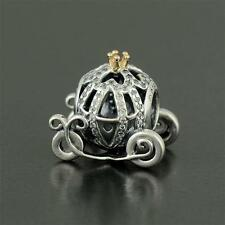 NEW Authentic PANDORA Disney Cinderella Pumpkin Coach Bead 791573CZ Charm