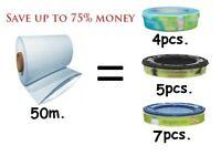 50m Refill Foil compatible with all nappy bins Simple Tec Twist & Click