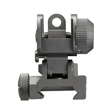 A2-Style Rear Flip-Up Sight w/ Single Plane Dual Aperture for Rifle Shotgun