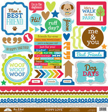 Doodlebug Design Puppy Love Cardstock Stickers 12 x 12 This and That 5251