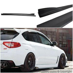 Fits Subaru Impreza WRX STi 08+ CS Style Side Skirt Extension   Plastic   Black
