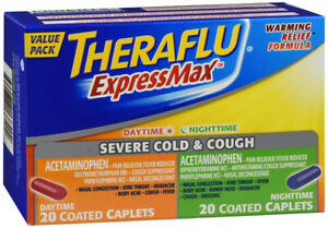Theraflu ExpressMax Severe Cold &Cough Day/Night Caplets 40 Count