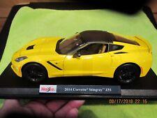2014 CHEVROLET CORVETTE Z51 YELLOW AND BLACK SPECIAL EDITION DIECAST 1/18 MAISTO