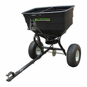 Yard Commander YTL-002-162 175 Pound Tow Broadcast Fertilizer Spreader, Black