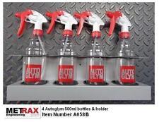 4 Autoglym 500ml Spray Bottles & Holder - Garage Van Car Valet Window Cleaner