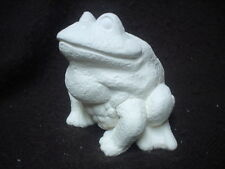 """C373 -Ceramic Bisque Small 4"""" Realistic Frog/Toad - Ready to Paint"""