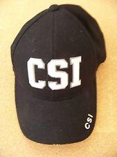 CSI adjustable black baseball cap hat raised letters
