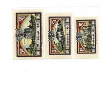 Heimat / WALDBRÖL 1921, 3 versch. bankfrische Notgeldscheine
