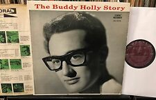 The BUDDY HOLLY STORY 1959 Maroon orig. Coral CRL 57279 VG+/VG+