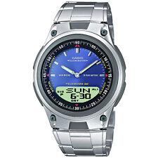 Casio Uhr AW-80D-2A Armbanduhr Analog Digital Herren Blau Silber Watch NEU & OVP