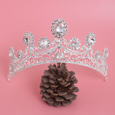 Wedding Bridal Rhinestone Crystal Princess Tiara Headpiece Forehead Crown