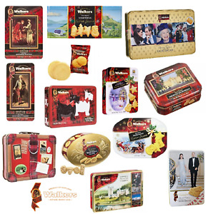 Walkers Shortbread Biscuits pure butter Festive Shapes Tins Selection