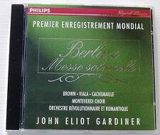 BERLIOZ . Messe Solennelle . GARDINER . Brown, Viala, Cachemaille . CD