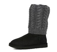 Ugg Australia Tularosa Route Detachable Suede Boot Black Grey Women Sz 6 5901 *