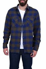 Lee Rider Shirt Army Green Regular Size S Check Western