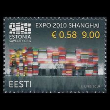 Estonia 2010 - World Expo 2010 Shanghai Flags - Sc 637 MNH