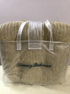 Tommy Bahama Set Of 4 Seat Cushions Indoor Outdoor Fade/Water Resistant NEW
