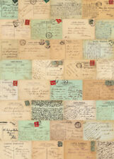 Cavallini & Co. Paris Postcards Decorative Paper Sheet / Poster / Wrap