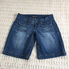 Industrial Cotton 128 Womens Blue Denim Short Size 11