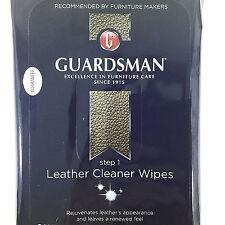 Guardsman Leather Cleaner Wipes Step 1 Cloths 20 ct Vinyl Valspar Car Furniture
