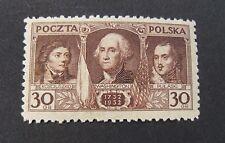 """POLONIA,POLAND,POLSKA 1931"""" 200° nascita G.Washington"""" 1V.Cpl set MH*"""