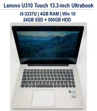 Lenovo IdeaPad U310 Touch 13.3'' Ultrabook i5-3337U 4GB 24GB SSD + 500GB W10