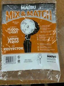 SET OF 4 MALIBU SPOT LIGHTS 4 WATT, MOD ML90401/LX9Z LANDSCAPE PATH LIGHTS, NIB