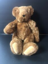 """The Vermont Teddy Bear 16"""" Bear Brown With Heart On Arm Stuffed Animal Jointed"""
