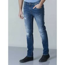 Mens Slim Fit Stretch Jean With Rips Fit Stretch Jean With Rips And Scuffings