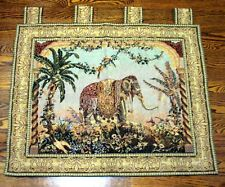 Contemporary Imperial Elephant Wall Hanging Tapestry 33 ins x 26 ins Rod Pockets