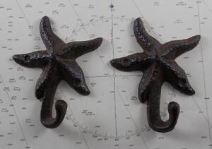 Iron Starfish Coat Hooks - Set of 2